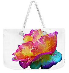 Tri Color Rose Weekender Tote Bag by Joseph Frank Baraba