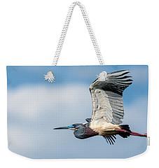 Tri-colored Heron In Flight Weekender Tote Bag
