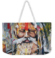 Weekender Tote Bag featuring the painting Tribal Chief Sadhu by Richard Day