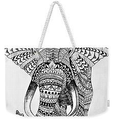 Tribal Elephant Weekender Tote Bag