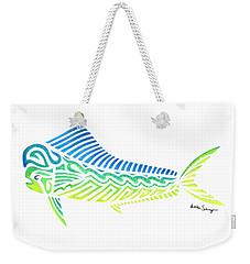 Tribal Mahi Mahi Weekender Tote Bag