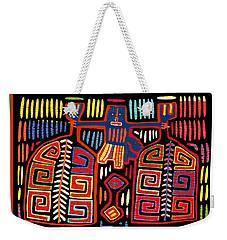 Tribal Woman Fanning Stove Weekender Tote Bag