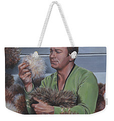 Weekender Tote Bag featuring the painting Tribble Trouble by Kim Lockman