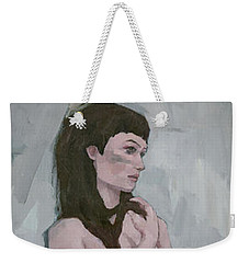 Weekender Tote Bag featuring the painting Tribe by Steve Mitchell
