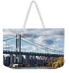Triboro Bridge In Autumn Weekender Tote Bag