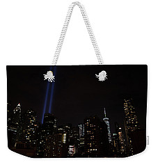 Weekender Tote Bag featuring the photograph Tribute And Tower by Jeff at JSJ Photography