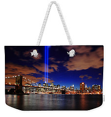 Tribute In Light Weekender Tote Bag by Rick Berk