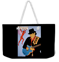 Weekender Tote Bag featuring the painting Tribute To Carlos by Stephanie Moore