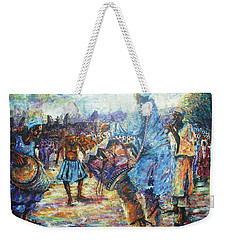 Tribute To The Royal Fathers Weekender Tote Bag by Bankole Abe