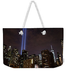 Twin Beam Tribute To The Towers Weekender Tote Bag by Jeff at JSJ Photography