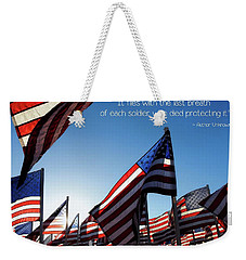 Weekender Tote Bag featuring the photograph Thank You by Peggy Hughes
