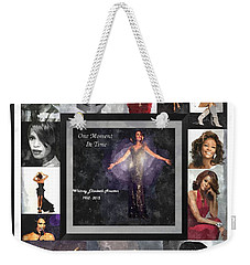 Tribute Whitney Houston One Moment In Time Weekender Tote Bag