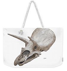 Triceratops Skull Weekender Tote Bag