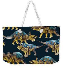 Triceratops Weekender Tote Bag by Varpu Kronholm