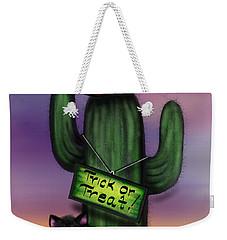 Trick Or Treat Cactus Weekender Tote Bag