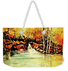 Trickling Spring In Autumn Weekender Tote Bag