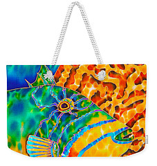 Triggerfish And Brain Coral Weekender Tote Bag