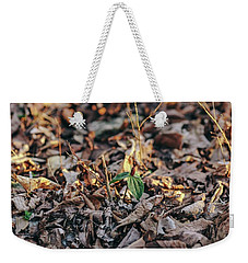 Trillium Blooming In Leaves On Forrest Floor Weekender Tote Bag