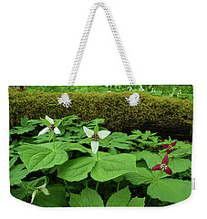 Trillium By Log Weekender Tote Bag by Alan Lenk