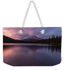Weekender Tote Bag featuring the photograph Trillium Lake Glow by Patricia Davidson