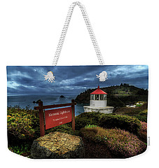 Weekender Tote Bag featuring the photograph Trinidad Memorial Lighthouse by James Eddy