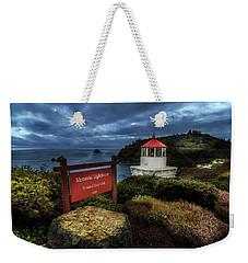 Trinidad Memorial Lighthouse Weekender Tote Bag by James Eddy