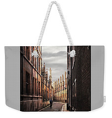 Weekender Tote Bag featuring the photograph Trinity Lane Cambridge by Gill Billington