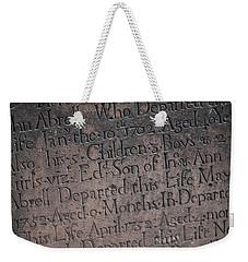 Trinity Tombstone Weekender Tote Bag