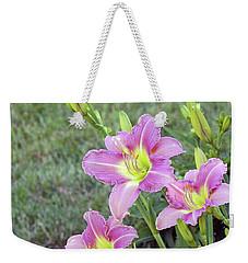 Trio Lavender Day Lilies Weekender Tote Bag