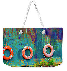 Trio Of Life Buoys Weekender Tote Bag