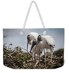 Trio Of Wood Storks Weekender Tote Bag