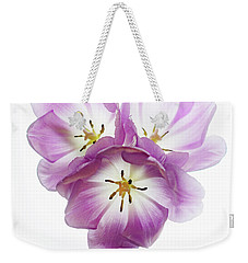 Weekender Tote Bag featuring the photograph Trio Squared by Rebecca Cozart