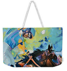 Triple Crown Champion American Pharoah Weekender Tote Bag by Donna Tuten