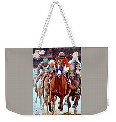 Triple Crown Winner Justify 2 Weekender Tote Bag