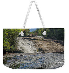 Weekender Tote Bag featuring the photograph Triple Falls Second Tier by Steven Richardson