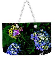 Triple Hydrangia In Spring Weekender Tote Bag by Marsha Heiken