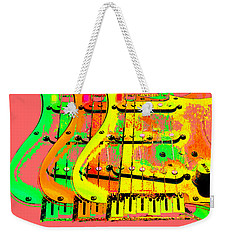 Weekender Tote Bag featuring the photograph Triple Pickguards by Guitar Wacky