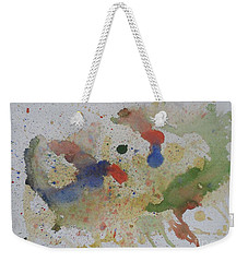 Weekender Tote Bag featuring the painting Triple Rooster Race by Vicki  Housel