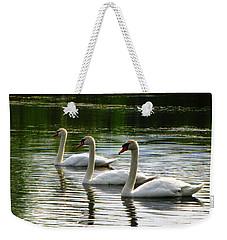 Triplet Swans Weekender Tote Bag