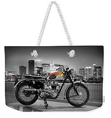 Triumph Bonneville 1962 Weekender Tote Bag by Mark Rogan