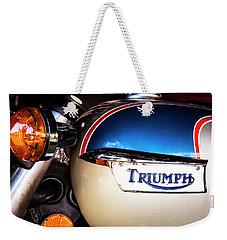 Triumph Motorcyle Weekender Tote Bag by Andy Crawford
