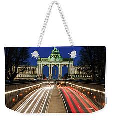 Arcade Du Ciquantenaire At Blue Hour Weekender Tote Bag