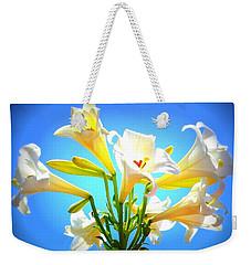 Triumphant  Easter Lilies Weekender Tote Bag