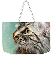 Trixie The Maine Coon Cat Weekender Tote Bag by Angela Murdock