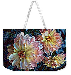 Weekender Tote Bag featuring the photograph Trois by Geri Glavis