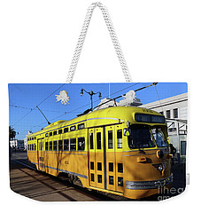 Weekender Tote Bag featuring the photograph Trolley Number 1052 by Steven Spak