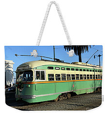 Weekender Tote Bag featuring the photograph Trolley Number 1058 by Steven Spak