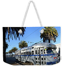Weekender Tote Bag featuring the photograph Trolley Number 1070 by Steven Spak