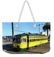 Weekender Tote Bag featuring the photograph Trolley Number 1071 by Steven Spak