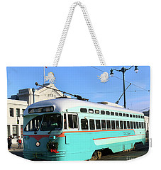 Weekender Tote Bag featuring the photograph Trolley Number 1076 by Steven Spak